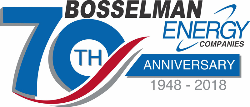 70th Aniversary Logo for Bosselman Engery